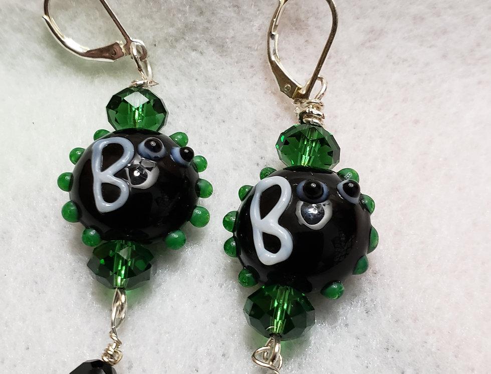 """""""Boo-ti-ful"""" Black Ceramic Earrings"""