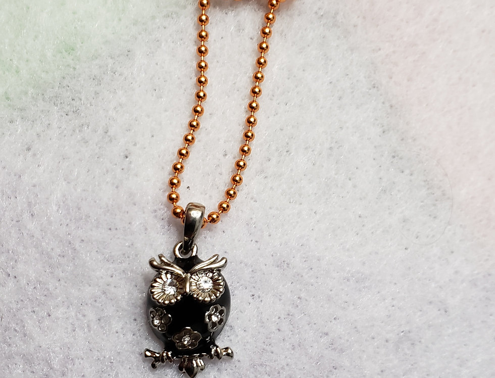 Orange Ball Chain Necklace