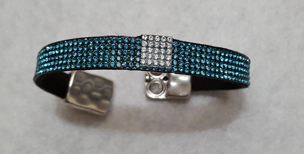 Swarovski crystal bracelet in teal