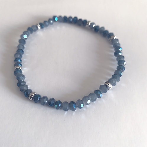 Mini Crystal Slate Beaded Bracelet