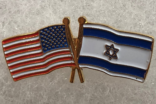 U.S. and Israeli Flag Lapel Pin