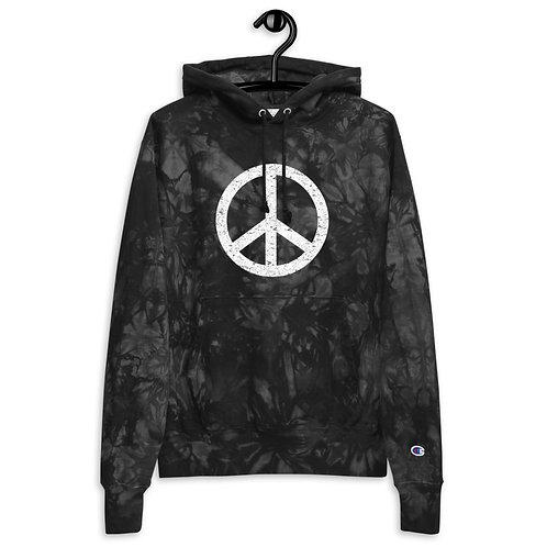 Peace Unisex Champion tie-dye hoodie