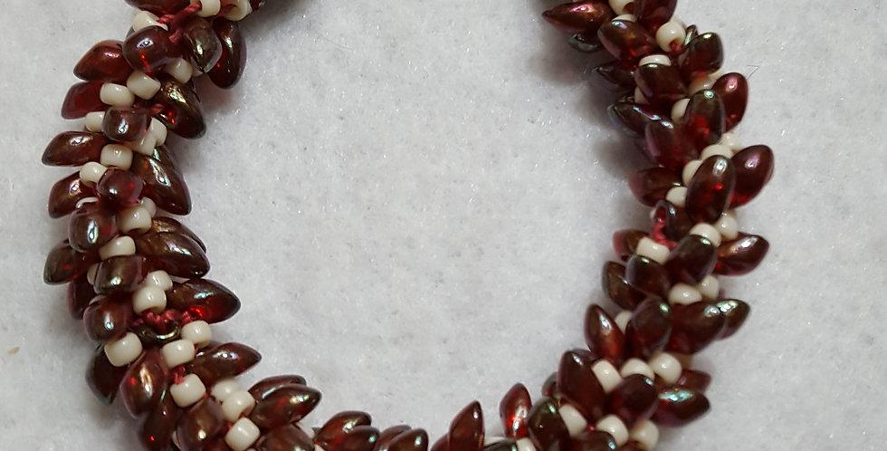 Czech glass Magatama shaped beads bracelet