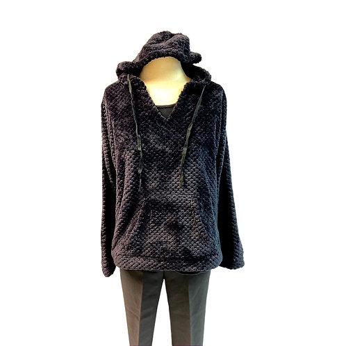 Cozy Black Pullover  Hoodie