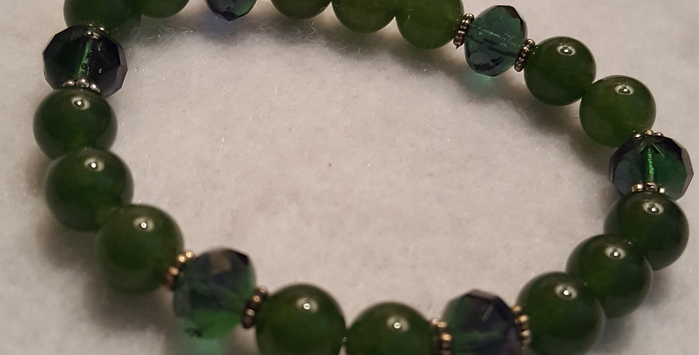 Beautiful green aventurine stone bracelet