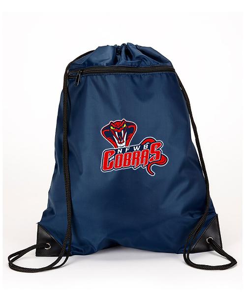 Liberty Bags Zippered Drawstring Backpack