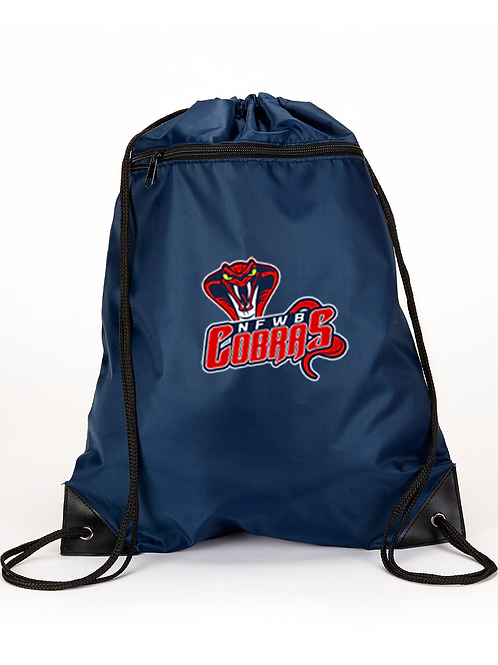 Liberty Bags Zippered Drawstring Backpack