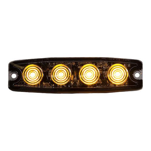 "Ultra Thin 4.5"" Amber LED Strobe Light"