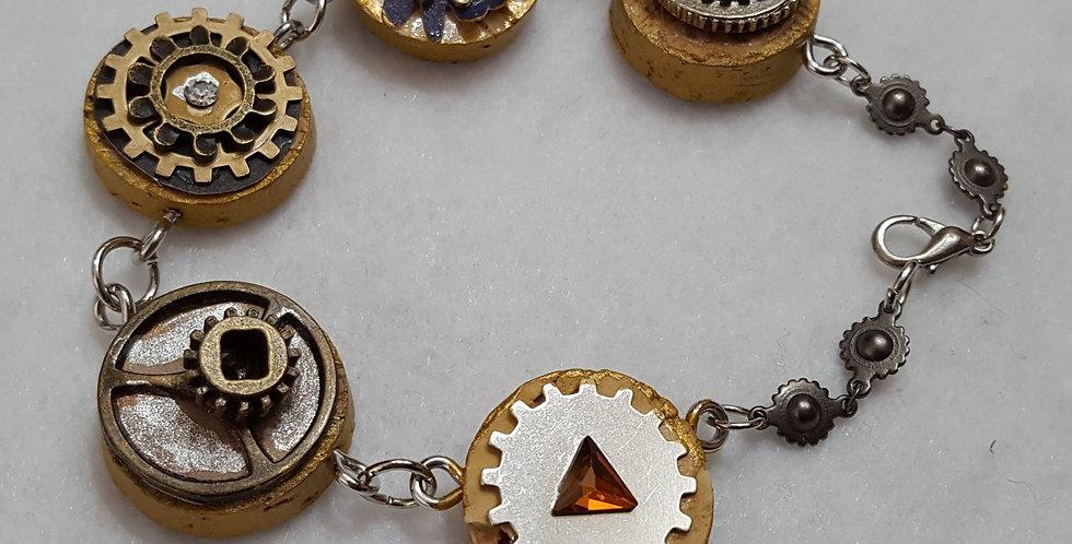 painted cork and embellished with Swarovski crystal bracelet