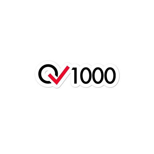 1000 Rides Milestone stickers
