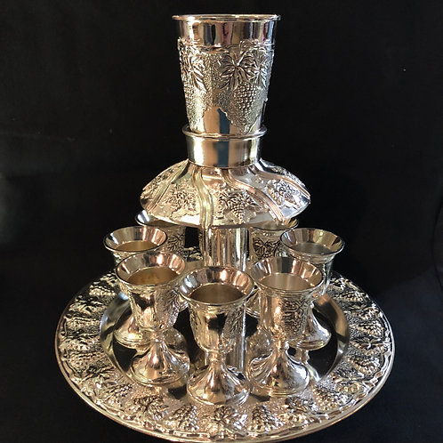 8 cups  Silver Plated Wine Fountain