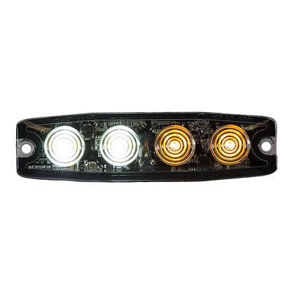 "Ultra Thin 4.5"" Amber/Clear LED Strobe Light"