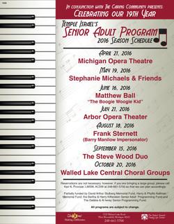 1606 - Senior Adult Program - 2106 Schedul