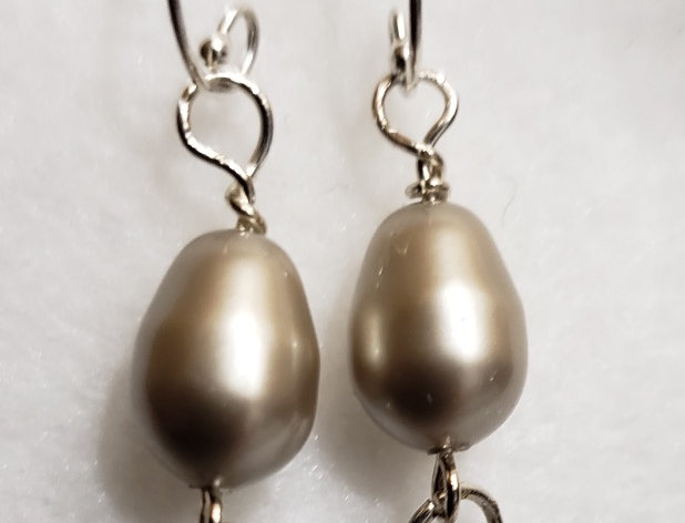 Baroque Swarovski Crystal Pearl Earring