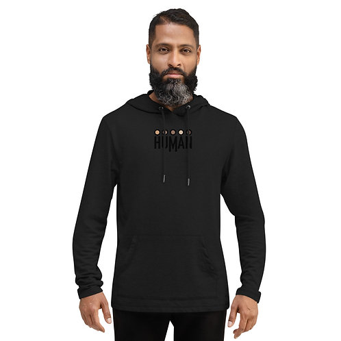 Human Logo Unisex Lightweight Hoodie - Clothing with a Cause