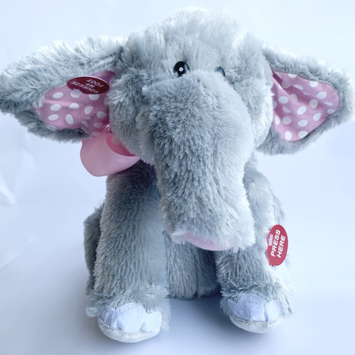 Ellie the Elephant Animated Stuffed Animal Plush