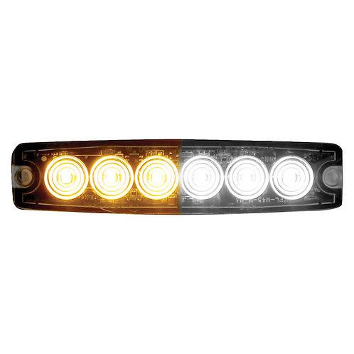 "Ultra Thin 5"" Amber/Clear LED Strobe Light"
