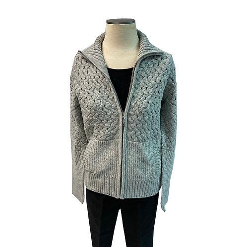 Grey Zip-up Sweater