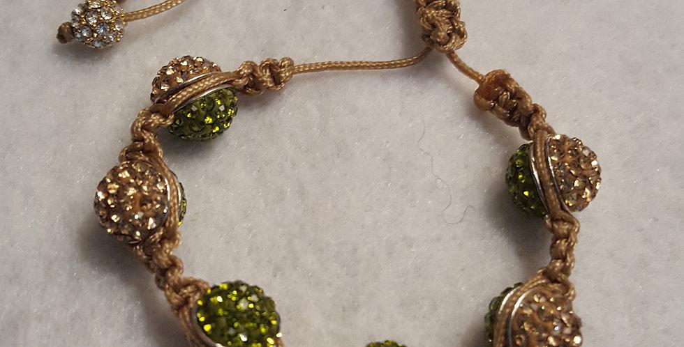 Two Tone Shamballa Beaded Bracelet