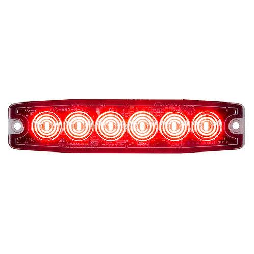 "Ultra Thin 5"" Red LED Strobe Light"