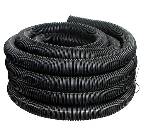 """Corrugated 4"""" x 100' Solid Pipe"""