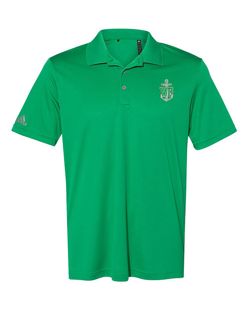 Mens Embroidered Green Polo