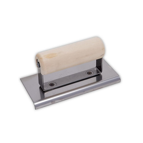 """Edger 6"""" x 3-1/2"""" Stainless 3/8R, 1/2L Wood Handle"""