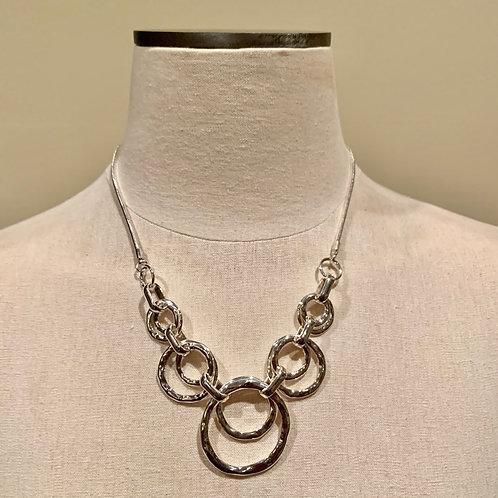 Silver Hoops Necklace/Earring Set