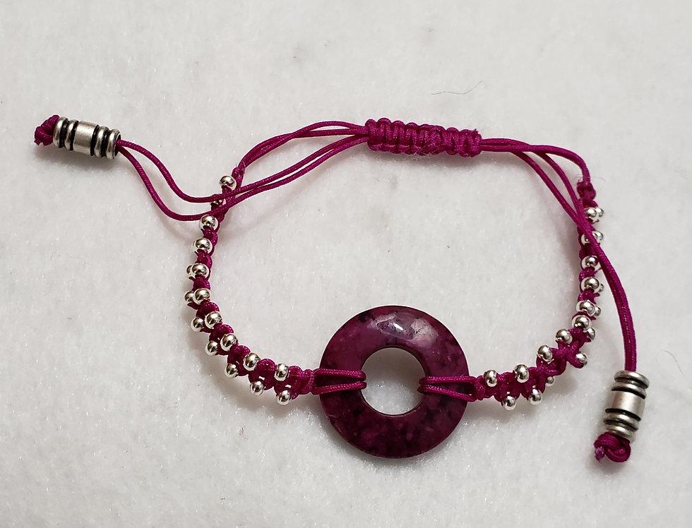Fuchsia Gemstone Bracelet