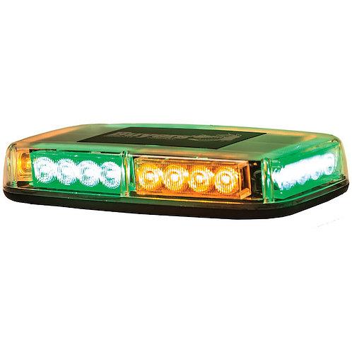 Mini Amber/Green 12-24 VDC LED Light Bar