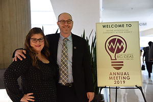 Patrick and Lisa annual meeting pic for