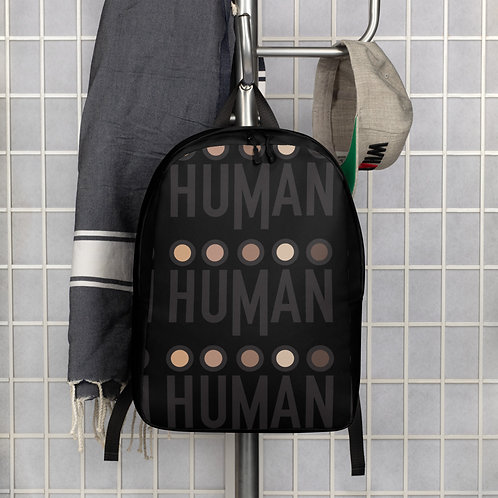 "Human Logo Backpack - ""Carry on the Cause"""