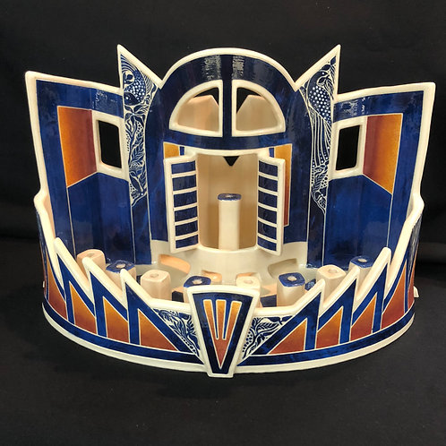 Ceramic Centerpiece Menorah