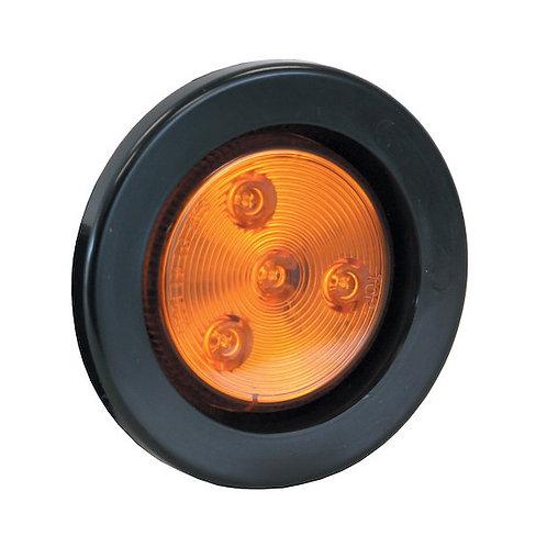 "Marker Light 2-1/2"" Amber Round w/4 LEDS"