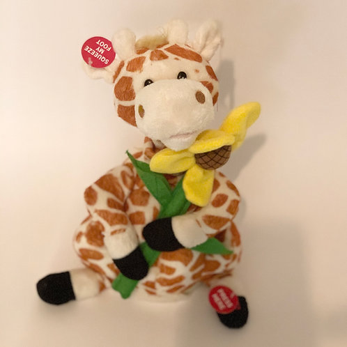 "Gerry 12"" Giraffe Animated Stuffed Animal Plush"