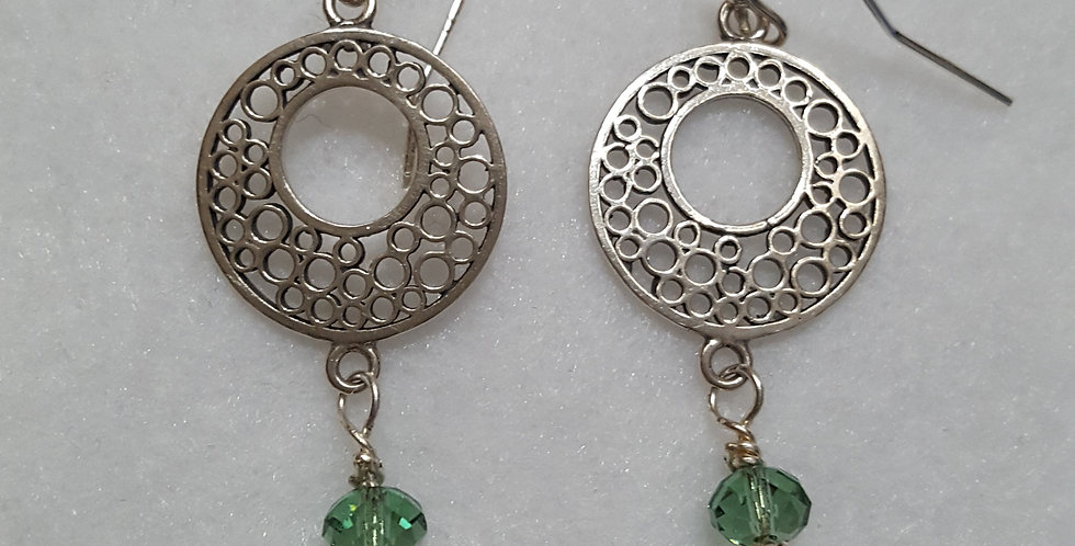 """Sterling silver earring with multi-sized """"bubbles"""""""