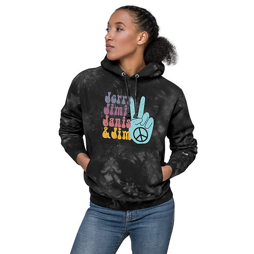 Music Legends Unisex Champion tie-dye hoodie