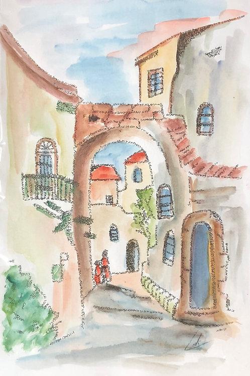 """An Alley in Jerusalem"" - Artists: Unknown"