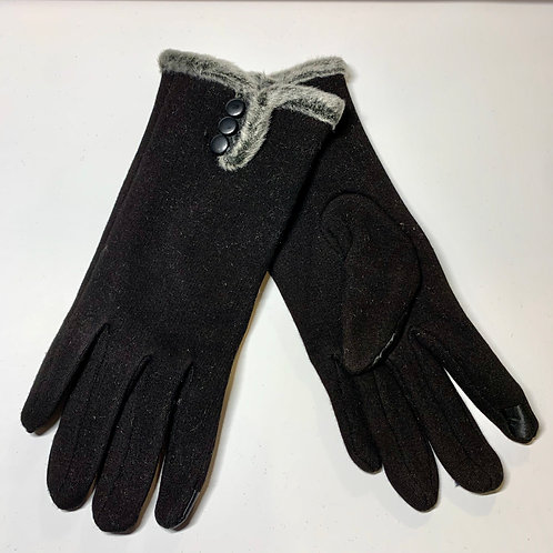 Black Fur Gloves