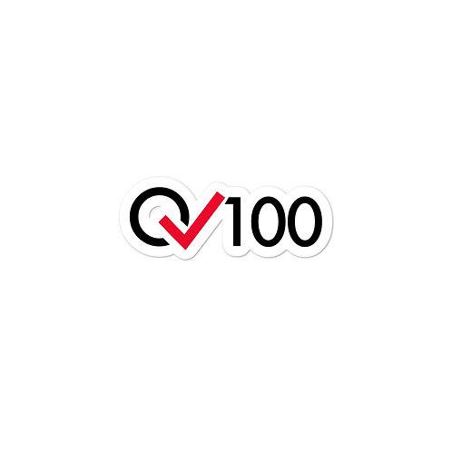 100 Rides Milestone Sticker