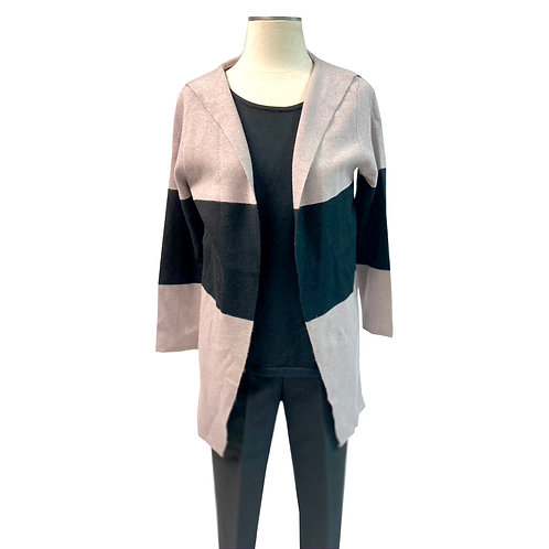 Black and Lilac Cardigan