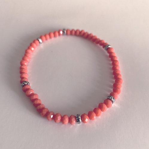 Mini Crystal Coral Beaded Bracelet