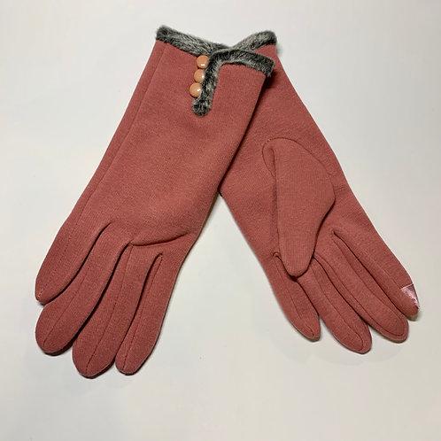 Salmon Fur Gloves
