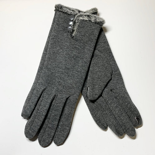 Gray Fur Gloves