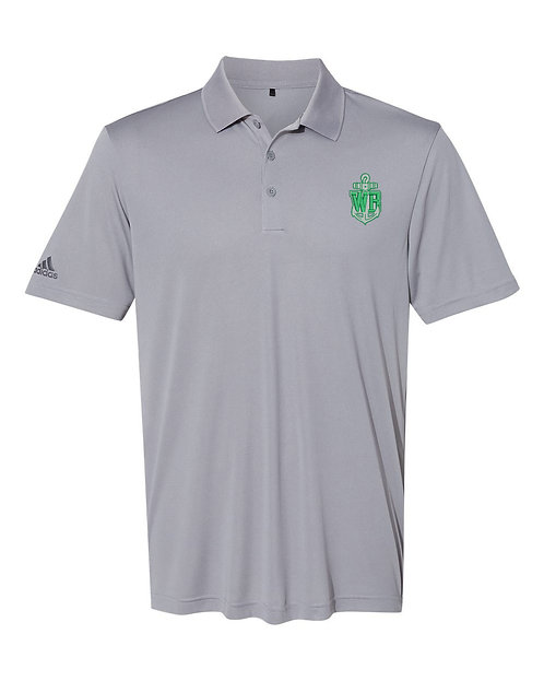 Mens Embroidered Grey Polo
