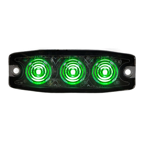 "Ultra Thin 3.5"" Green LED Strobe Light"