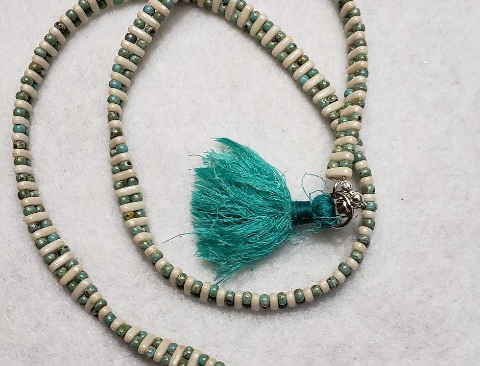 Czech Turquoise Wrap Bracelet