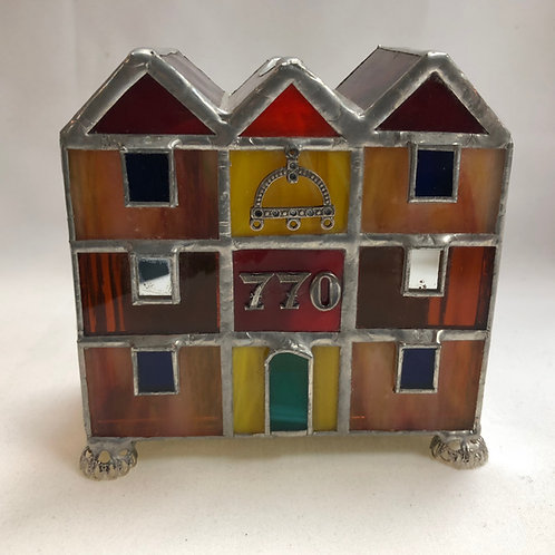 Stain Glass Tzedakah Box