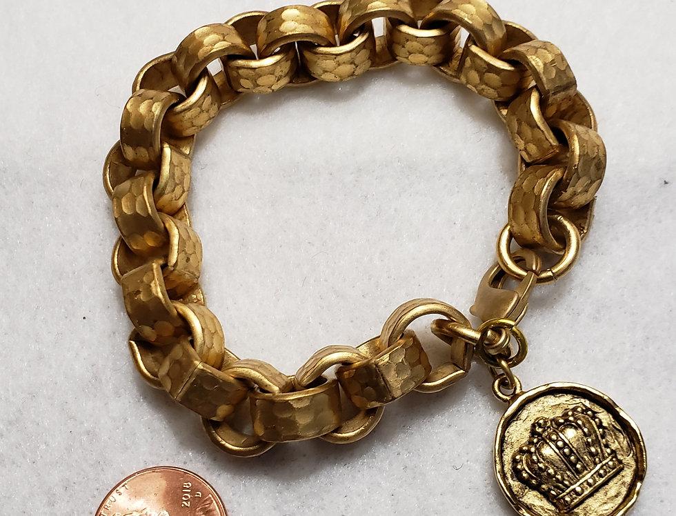 Satin Gold Chunky Bracelet