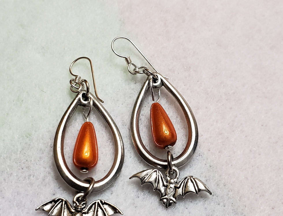 Large Teardrop Shaped Earrings